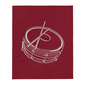 Drawing Snare Percussion Throw Blanket-Marching Arts Merchandise-Marching Arts Merchandise