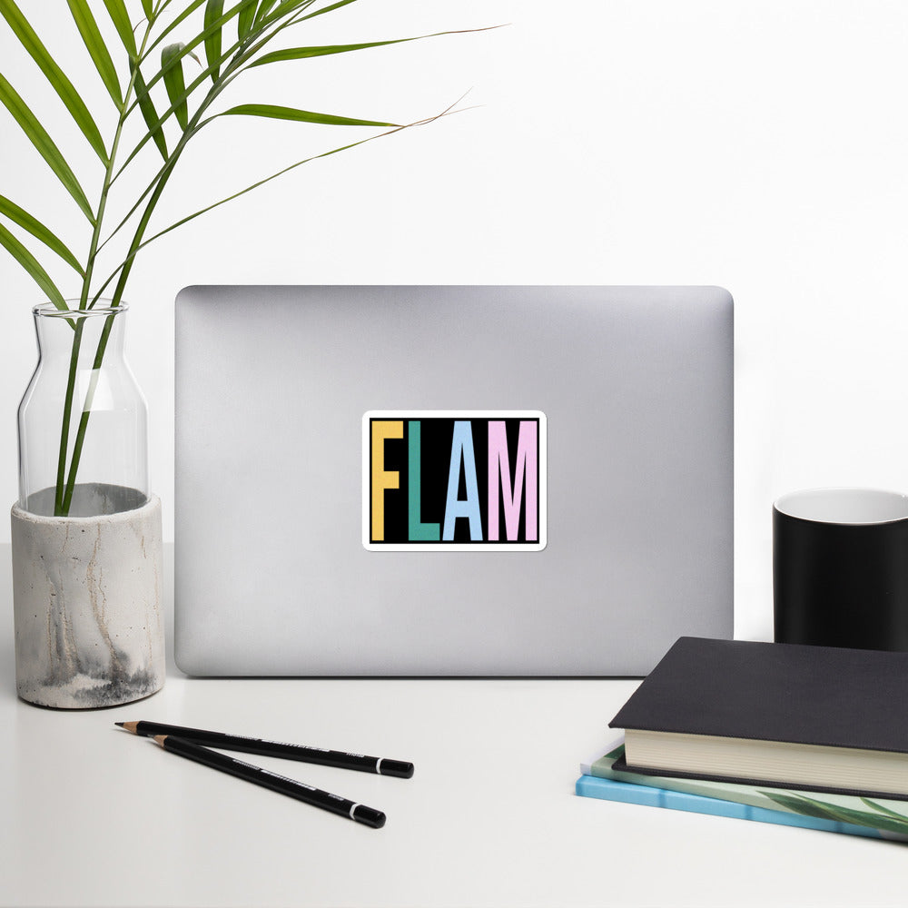 FLAM Bubble-Free Stickers-Marching Arts Merchandise-Marching Arts Merchandise