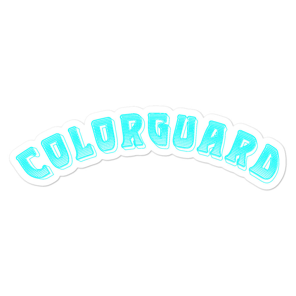 Color Guard Bubble-Free Stickers-Marching Arts Merchandise-5.5x5.5-Marching Arts Merchandise