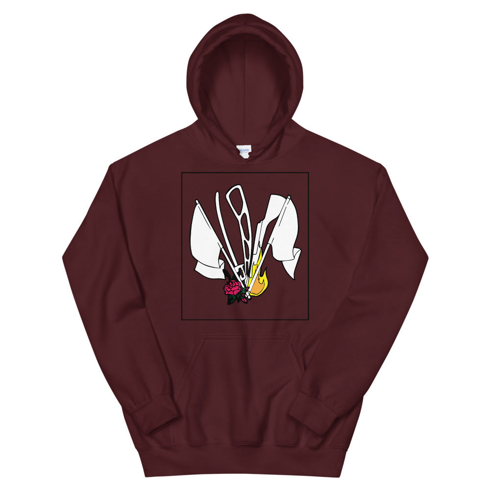 Color Guard Fire Unisex Hoodie-Marching Arts Merchandise-Maroon-S-Marching Arts Merchandise