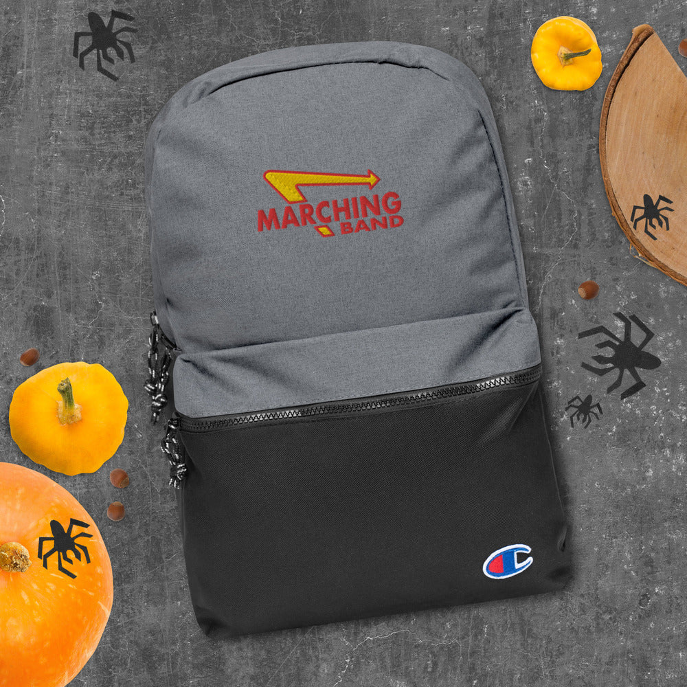Marching Burgers Embroidered Champion Backpack-Marching Arts Merchandise-Marching Arts Merchandise