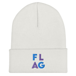 FLAG Cuffed Beanie-Marching Arts Merchandise-White-Marching Arts Merchandise