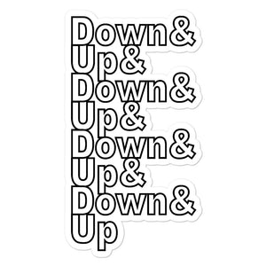 Down & Up Bubble-Free Stickers-Marching Arts Merchandise-5.5x5.5-Marching Arts Merchandise