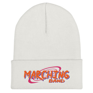 Baruto Marching Band Cuffed Beanie-Beanie-Marching Arts Merchandise-White-Marching Arts Merchandise