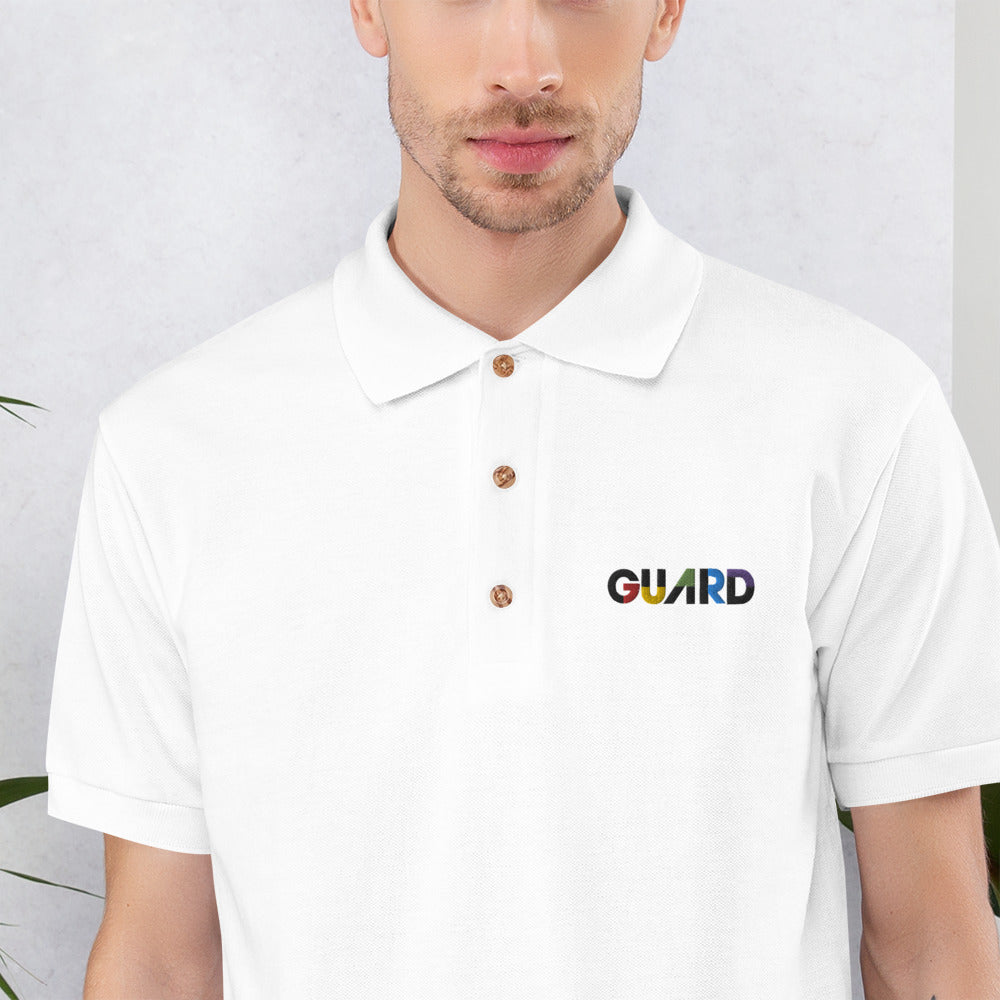 Color Block Guard Color Guard Men's Embroidered Polo Shirt-Polo Shirt-Marching Arts Merchandise-Marching Arts Merchandise