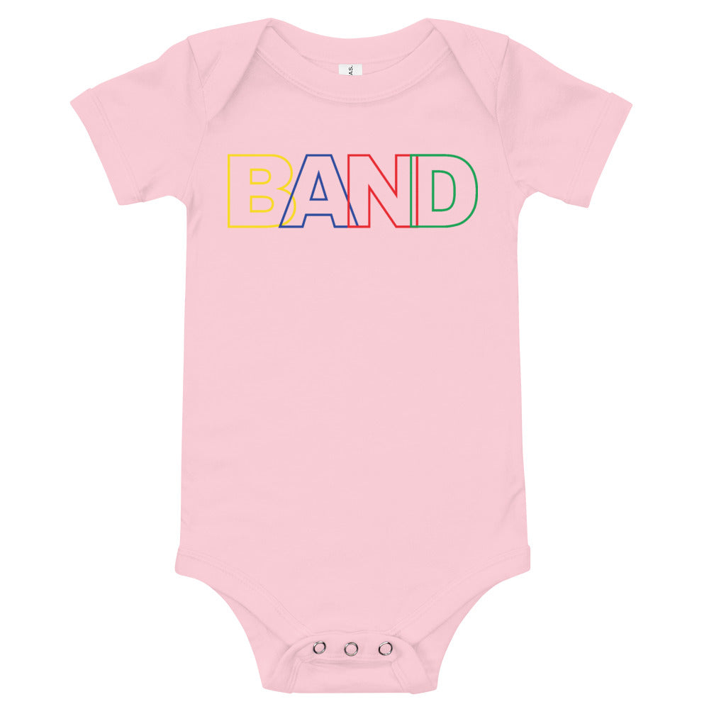 Basic Band Marching Band Onesie-Onesie-Marching Arts Merchandise-Pink-3-6m-Marching Arts Merchandise