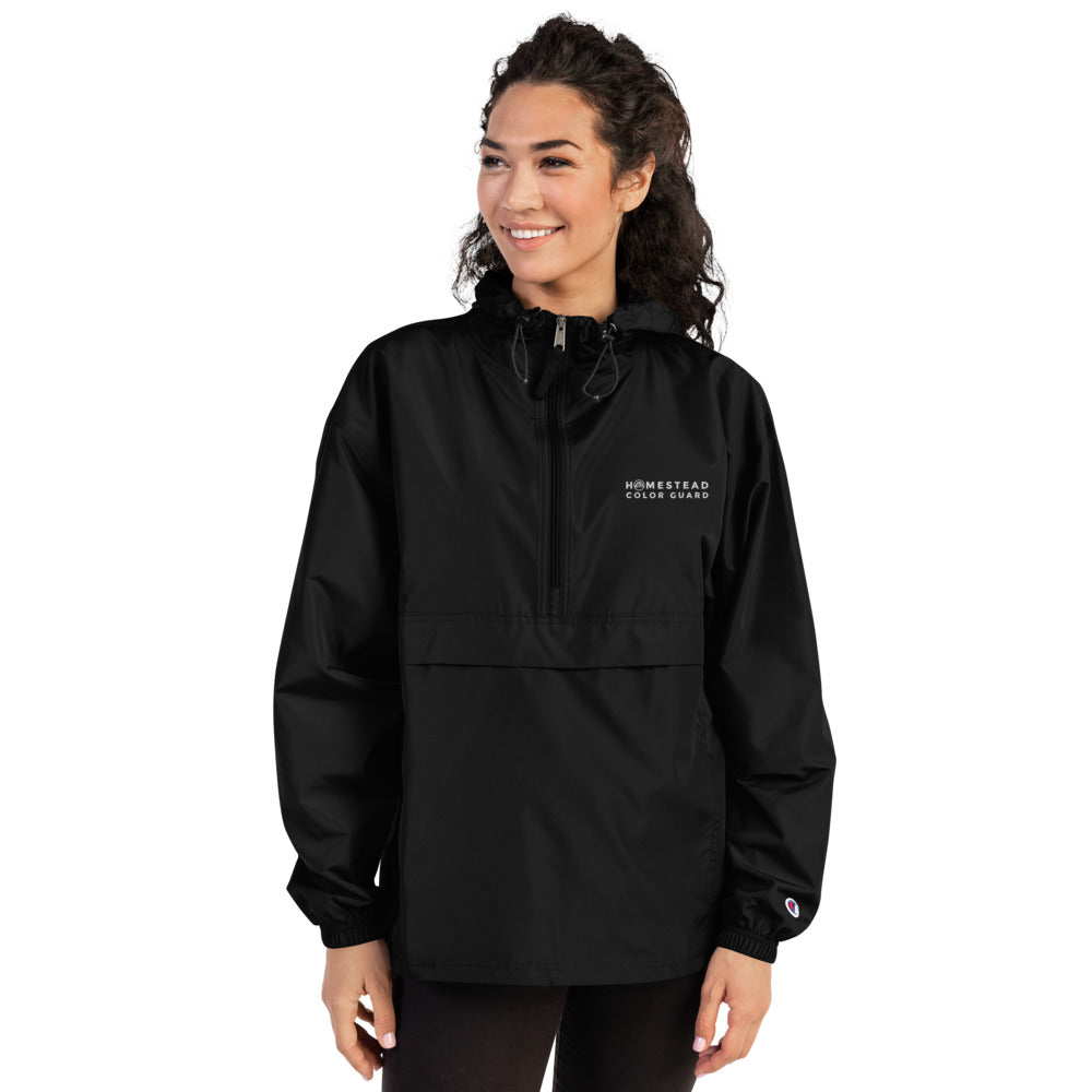 Homestead Color Guard Embroidered Champion Packable Jacket-Marching Arts Merchandise-Marching Arts Merchandise
