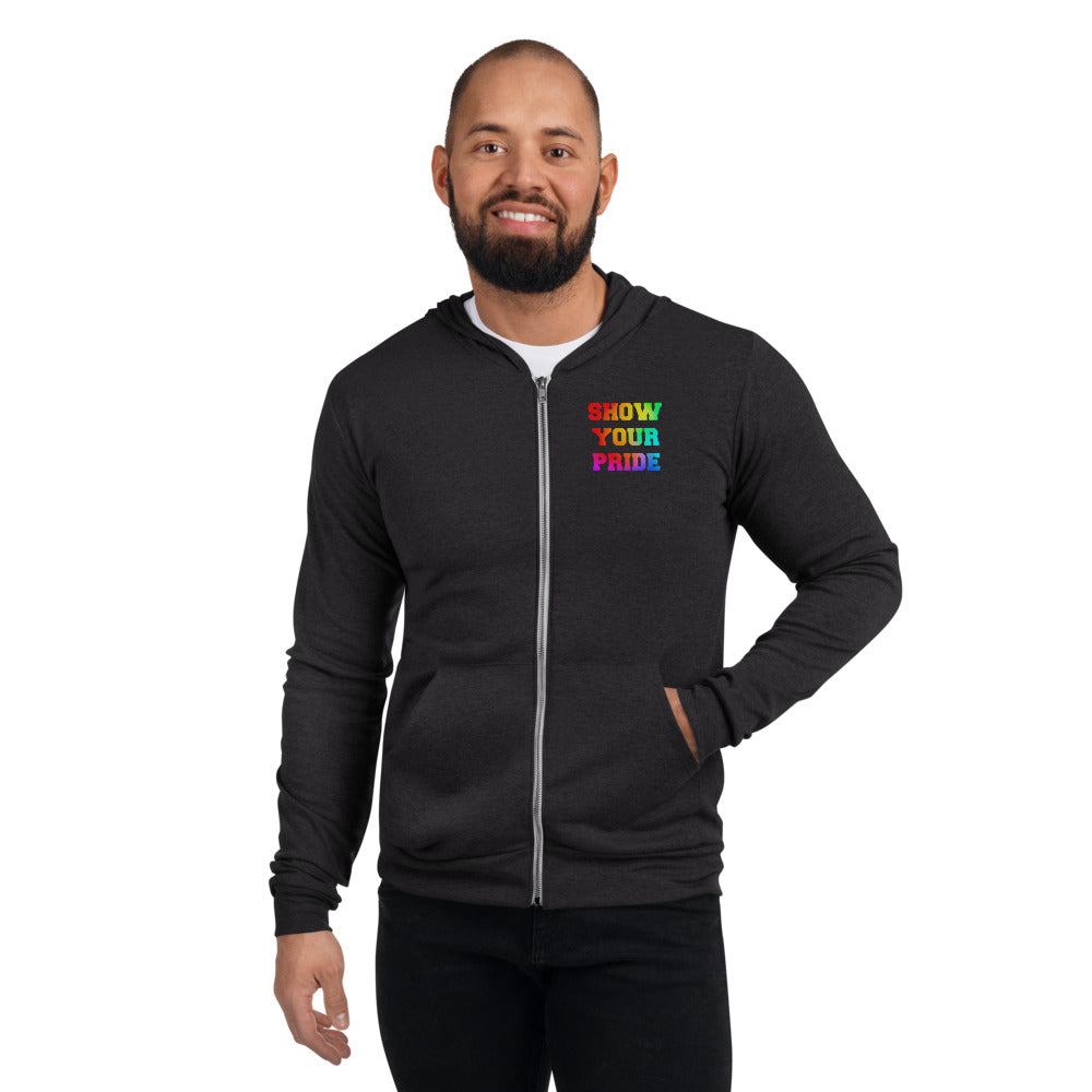 Show Your Pride Marching Band Unisex Zip Hoodie-Hoodie-Marching Arts Merchandise-Marching Arts Merchandise