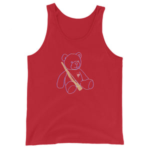 Teddy Rifle Color Guard Unisex Tank Top-Marching Arts Merchandise-Red-XS-Marching Arts Merchandise