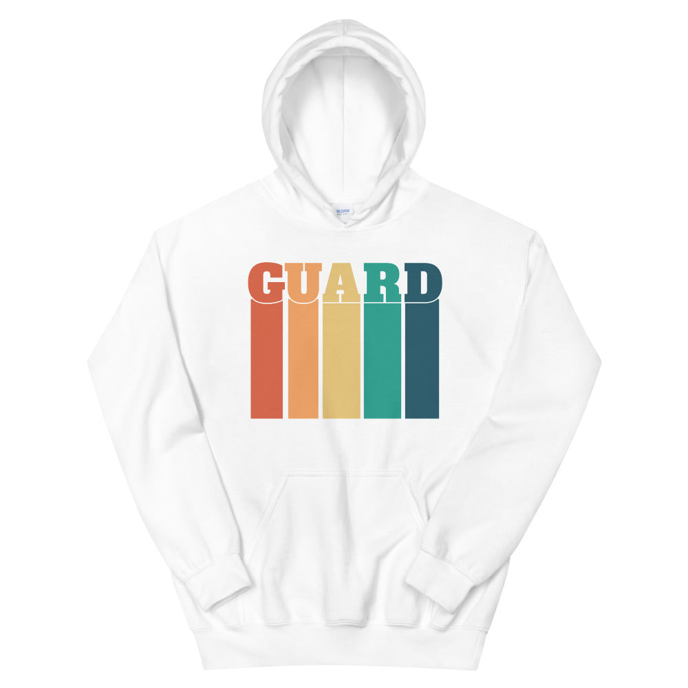 70s Color Guard Unisex Hoodie-Marching Arts Merchandise-White-S-Marching Arts Merchandise