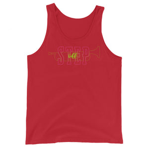 Step Off Marching Band Unisex Tank Top-Marching Arts Merchandise-Red-XS-Marching Arts Merchandise