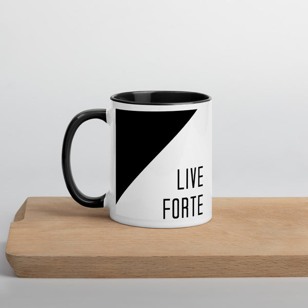 Live Forte Mug with Color Inside - Marching Arts Merchandise -  - Marching Arts Merchandise - Marching Arts Merchandise - band percussion color guard clothing accessories home goods
