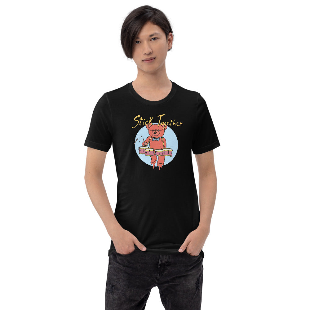 Teddy Tenor Percussion Short-Sleeve Unisex T-Shirt-Marching Arts Merchandise-Marching Arts Merchandise