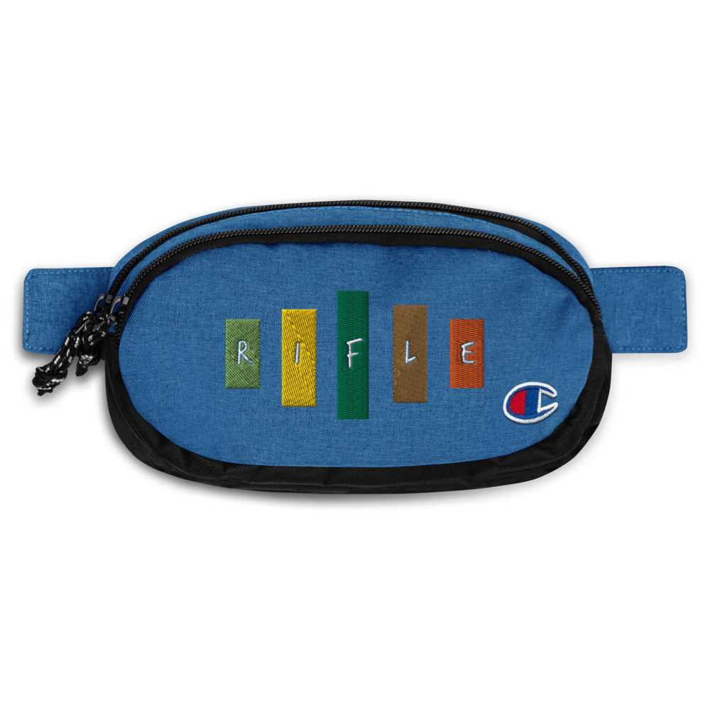 Retro Rifle Champion Fanny Pack-Marching Arts Merchandise-Heather Royal/Black-Marching Arts Merchandise