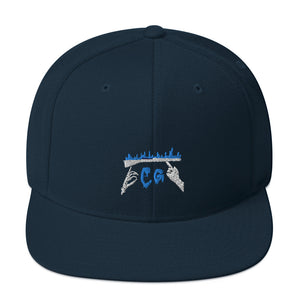 Rifle On Fire Snapback Hat-Marching Arts Merchandise-Dark Navy-Marching Arts Merchandise