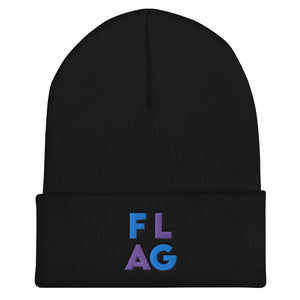 FLAG Cuffed Beanie-Marching Arts Merchandise-Black-Marching Arts Merchandise