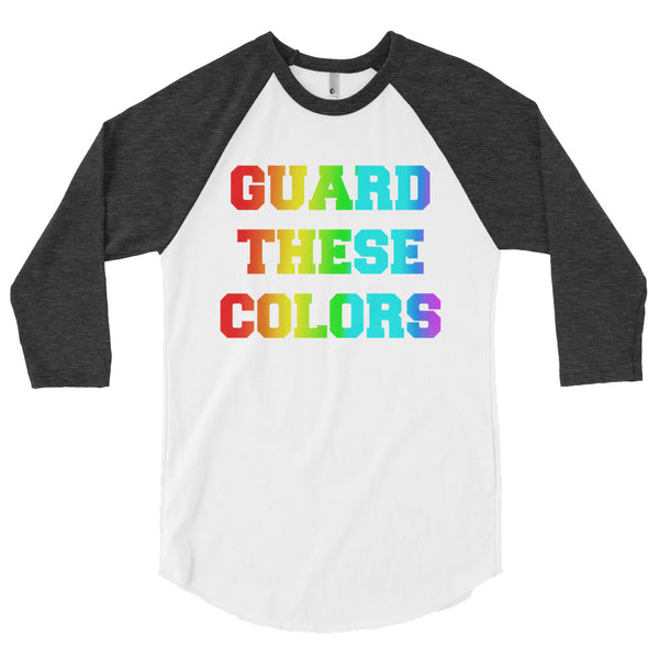 Guard These Colors Pride 3/4 Sleeve Raglan Shirt - Marching Arts Merchandise -  - Marching Arts Merchandise - Marching Arts Merchandise - band percussion color guard clothing accessories home goods