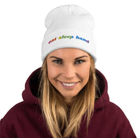 Eat Sleep Band Embroidered Beanie - Marching Arts Merchandise -  - Marching Arts Merchandise - Marching Arts Merchandise - band percussion color guard clothing accessories home goods