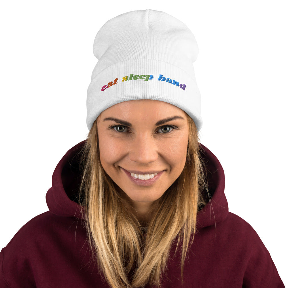 Eat Sleep Band Marching Band Embroidered Beanie-Beanie-Marching Arts Merchandise-Marching Arts Merchandise
