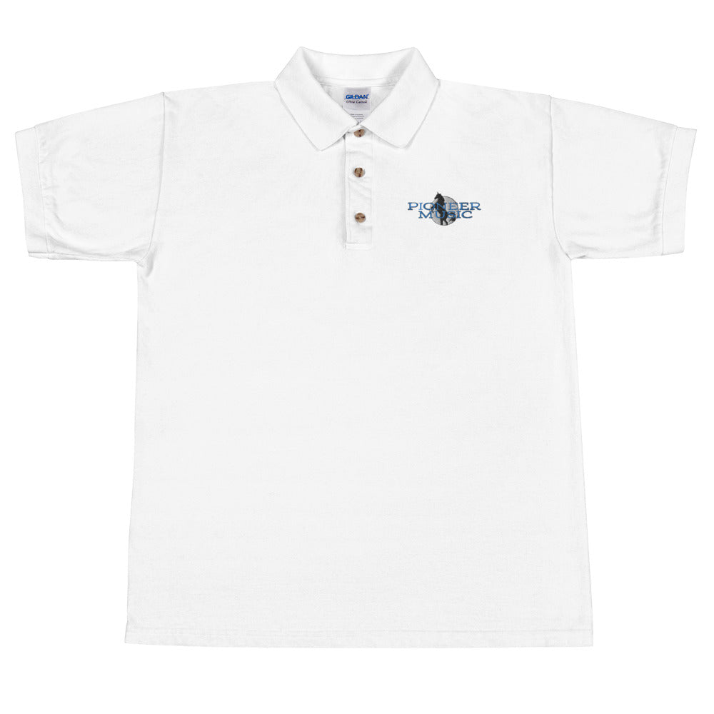 Pioneer Music Embroidered Men's Polo Shirt-Marching Arts Merchandise-Marching Arts Merchandise