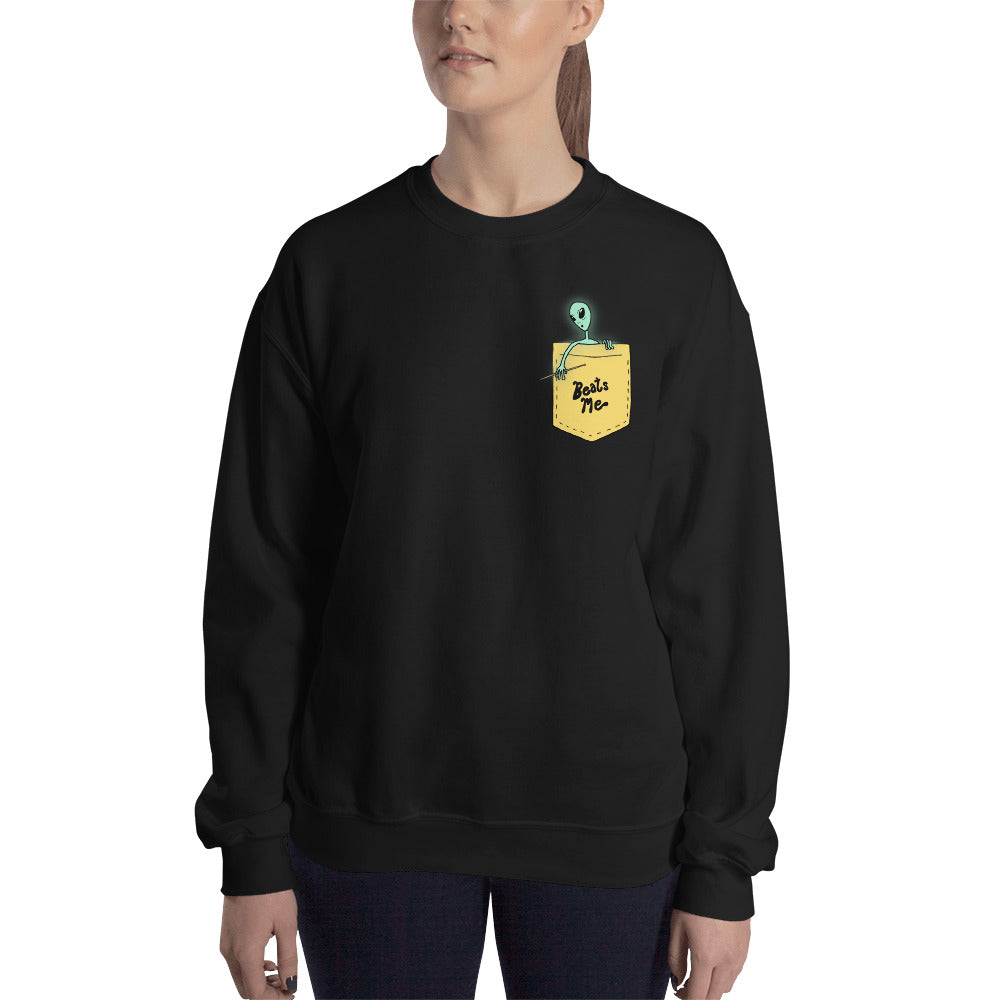 Beats Me Alien Percussion Unisex Sweatshirt-Marching Arts Merchandise-Marching Arts Merchandise