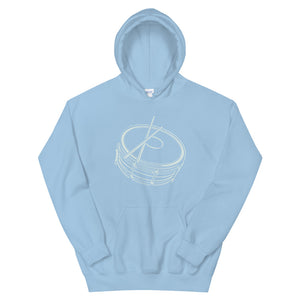 Drawing Snare Unisex Hoodie-Marching Arts Merchandise-Light Blue-S-Marching Arts Merchandise