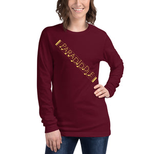 Paradiddle Strap Percussion Unisex Long Sleeve Tee-Marching Arts Merchandise-Marching Arts Merchandise