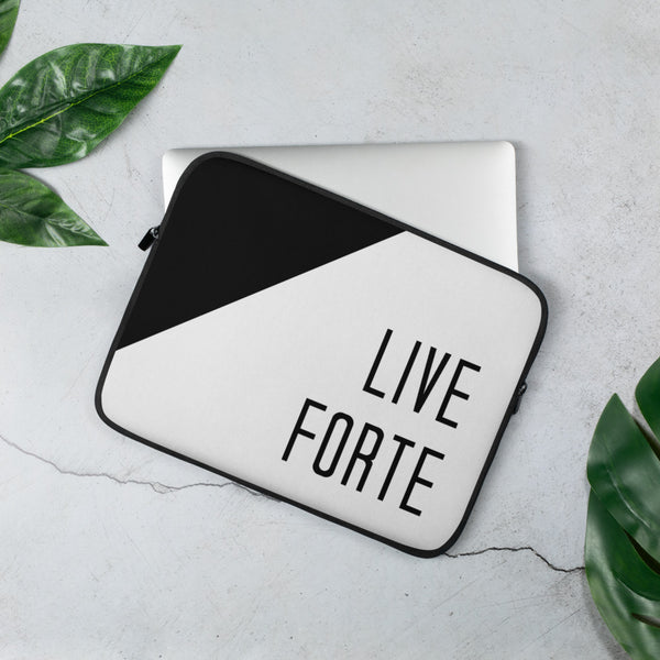 Live Forte Laptop Sleeve - Marching Arts Merchandise -  - Marching Arts Merchandise - Marching Arts Merchandise - band percussion color guard clothing accessories home goods