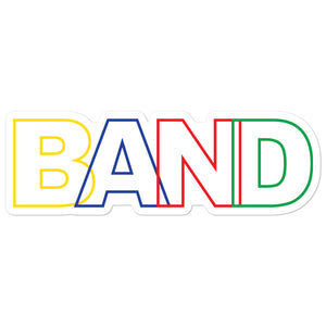 Basic Band Marching Band Bubble-Free Stickers-Sticker-Marching Arts Merchandise-5.5x5.5-Marching Arts Merchandise