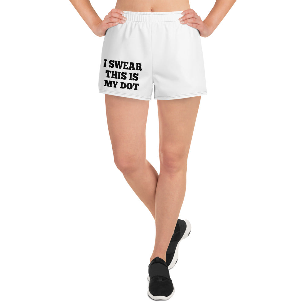 My Dot Marching Band Women's Athletic Short Shorts-Shorts-Marching Arts Merchandise-Marching Arts Merchandise
