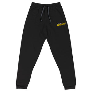 Just Keep Spinning Unisex Joggers-Marching Arts Merchandise-Black-S-Marching Arts Merchandise