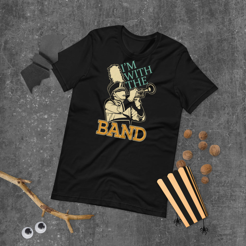 I'm With The Band Marching Band Short-Sleeve Unisex T-Shirt-Marching Arts Merchandise-Marching Arts Merchandise