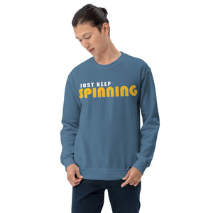 Just Keep Spinning Unisex Sweatshirt-Marching Arts Merchandise-Marching Arts Merchandise