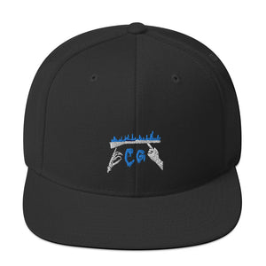 Rifle On Fire Snapback Hat-Marching Arts Merchandise-Black-Marching Arts Merchandise