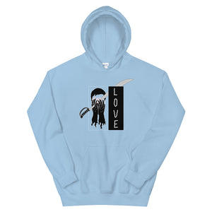 Saber Love Color Guard Unisex Hoodie-Marching Arts Merchandise-Light Blue-S-Marching Arts Merchandise