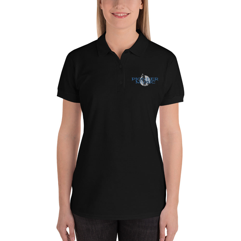 Pioneer Music Embroidered Women's Polo Shirt-Marching Arts Merchandise-Marching Arts Merchandise