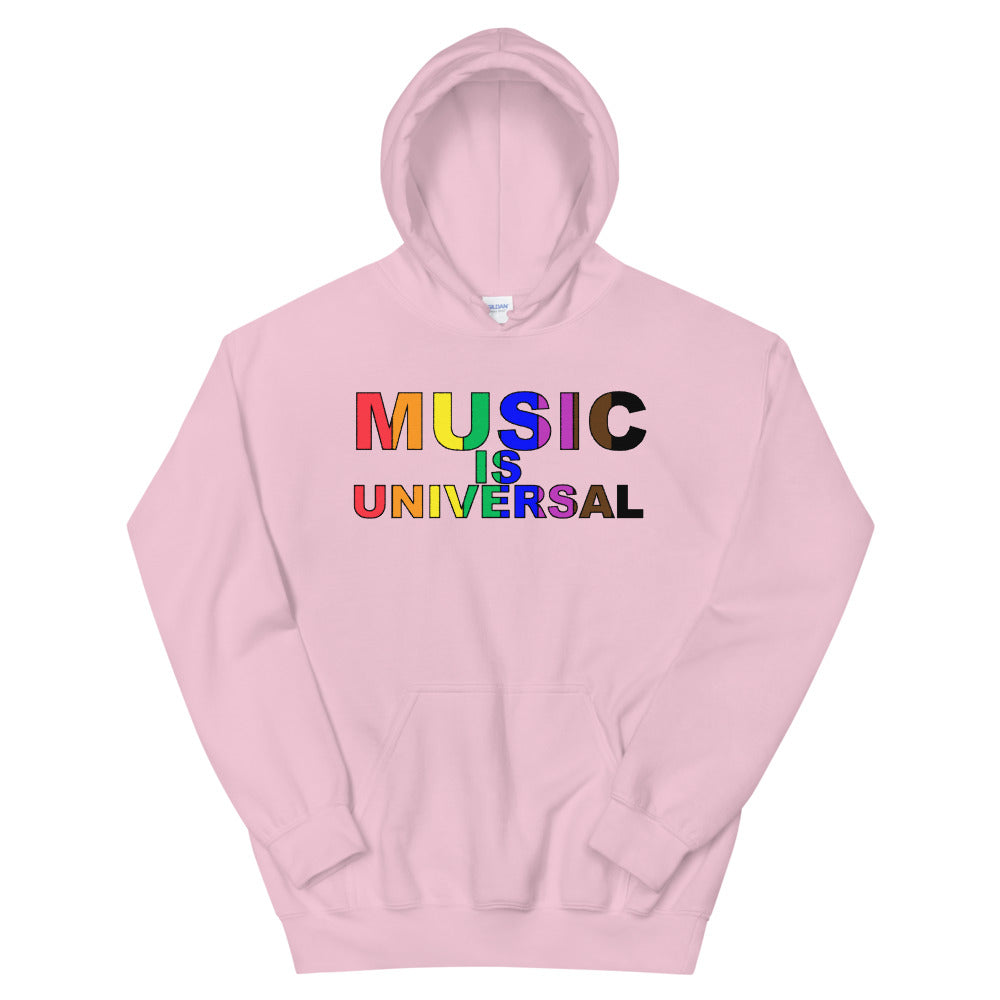 Music Is Universal Unisex Hoodie-Marching Arts Merchandise-Light Pink-S-Marching Arts Merchandise