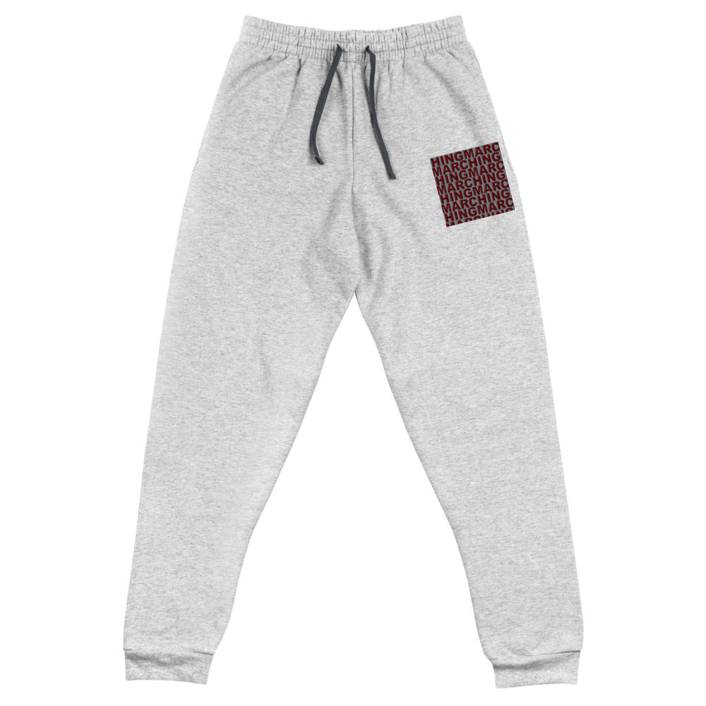 Burgundy Band Marching Band Embroidered Unisex Joggers-Joggers-Marching Arts Merchandise-Marching Arts Merchandise