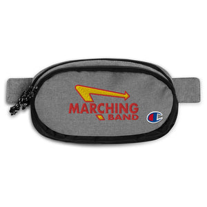 Marching Burgers Champion Fanny Pack-Marching Arts Merchandise-Heather Granite/Black-Marching Arts Merchandise