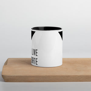 Live Forte Mug with Color Inside-Marching Arts Merchandise-Marching Arts Merchandise