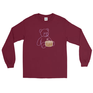 Neon Teddy Snare Long Sleeve Shirt-Marching Arts Merchandise-Maroon-S-Marching Arts Merchandise