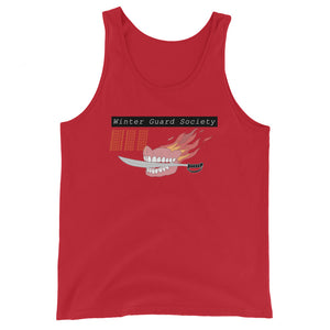 Winter Guard Saber Color Guard Unisex Tank Top-Marching Arts Merchandise-Red-XS-Marching Arts Merchandise