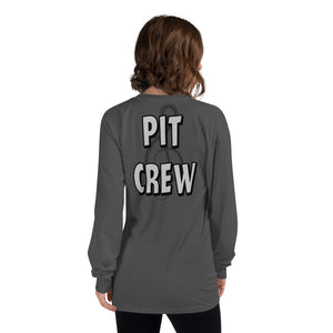 Pit Crew Long Sleeve T-Shirt-Marching Arts Merchandise-Asphalt-S-Marching Arts Merchandise