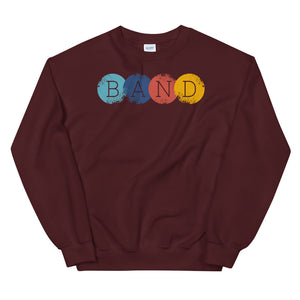 Band Circles Marching Band Unisex Sweatshirt-Marching Arts Merchandise-Maroon-S-Marching Arts Merchandise
