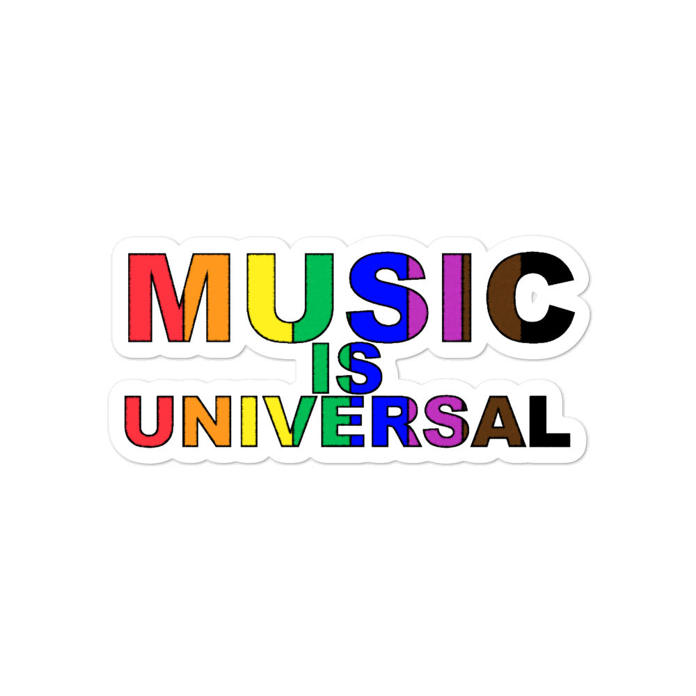 Music is Universal Bubble-Free Stickers-Marching Arts Merchandise-4x4-Marching Arts Merchandise