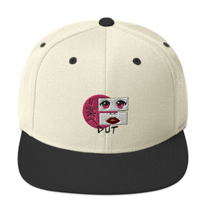 Anime Dut Percussion Snapback Hat-Marching Arts Merchandise-Natural/ Black-Marching Arts Merchandise