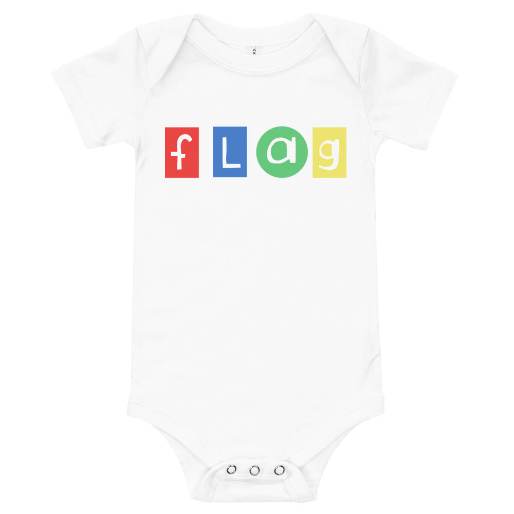 Flag Onesie-Marching Arts Merchandise-White-12-18m-Marching Arts Merchandise