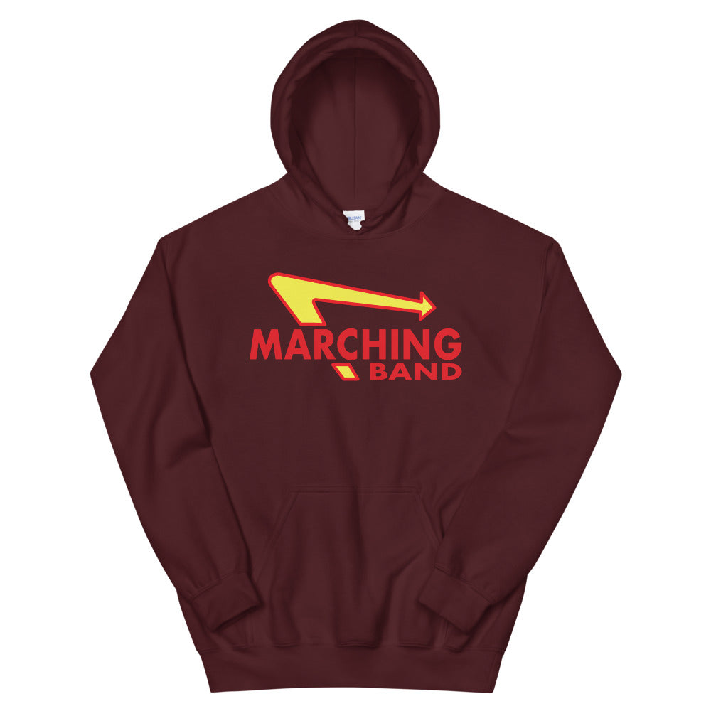Marching Burgers Unisex Hoodie-Marching Arts Merchandise-Maroon-S-Marching Arts Merchandise