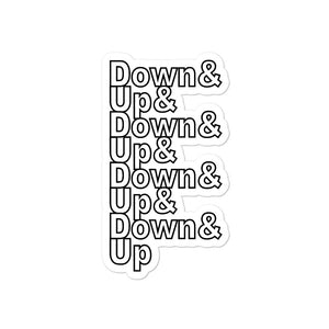 Down & Up Bubble-Free Stickers-Marching Arts Merchandise-4x4-Marching Arts Merchandise