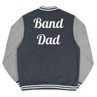 Band Dad Men's Letterman Jacket - Marching Arts Merchandise -  - Marching Arts Merchandise - Marching Arts Merchandise - band percussion color guard clothing accessories home goods